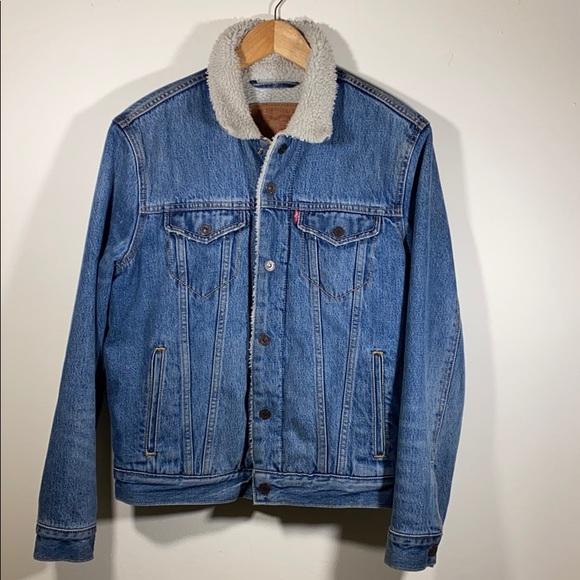 Levi's Denim Jean Jacket Sherpa Small